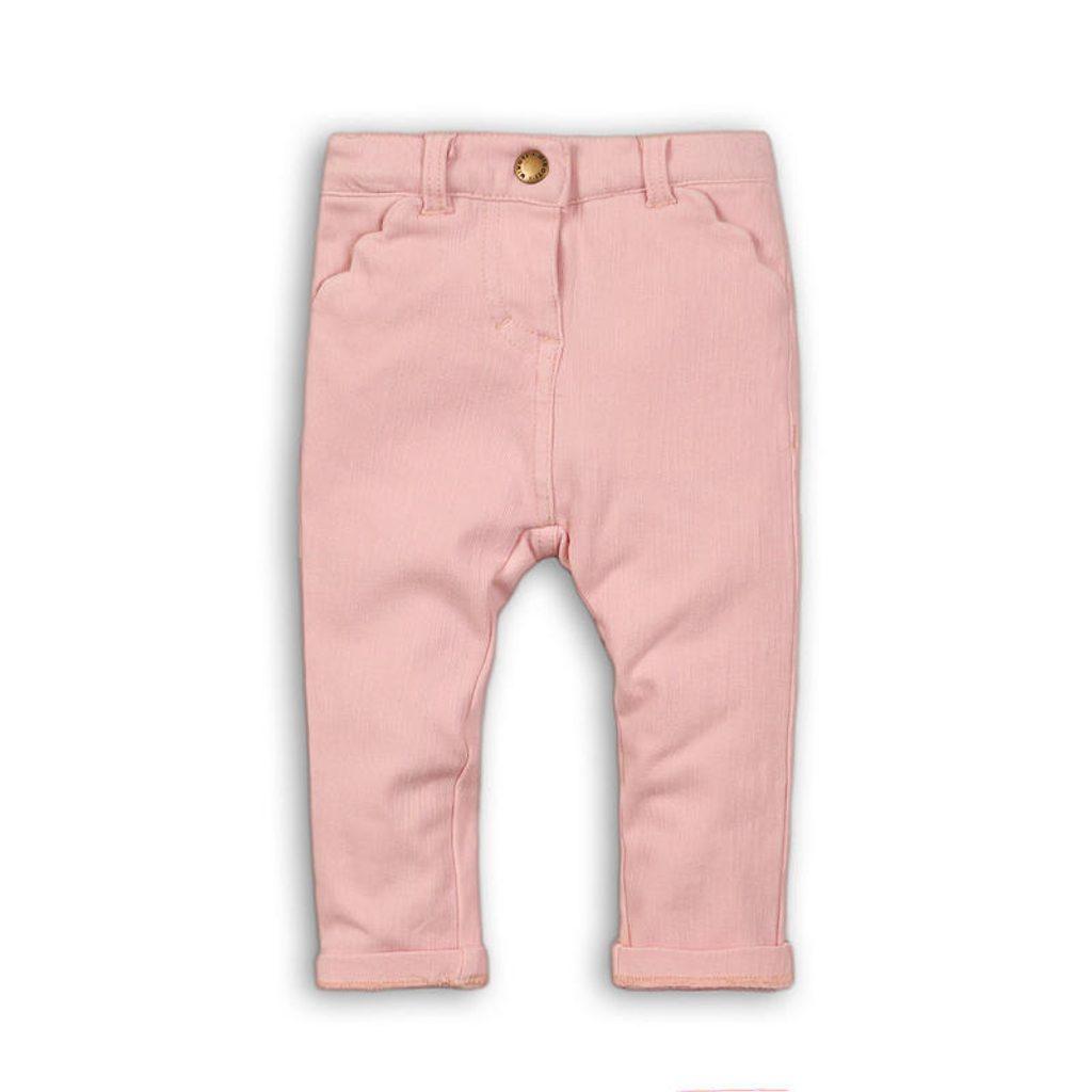 Kalhoty dívčí s elastenem, Minoti, AUTUMN 9, růžová - 104/110