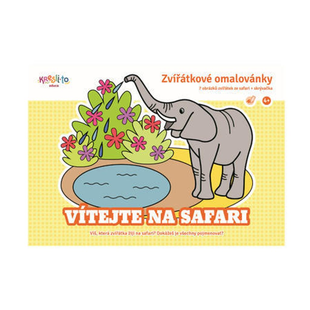 Zvířátkové omalovánky - Vítejte na safari, Kresli.to, W009522