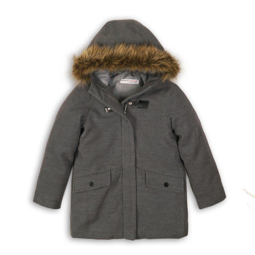 Kabát dívčí, Minoti, STAGE 1, šedá - 98/104