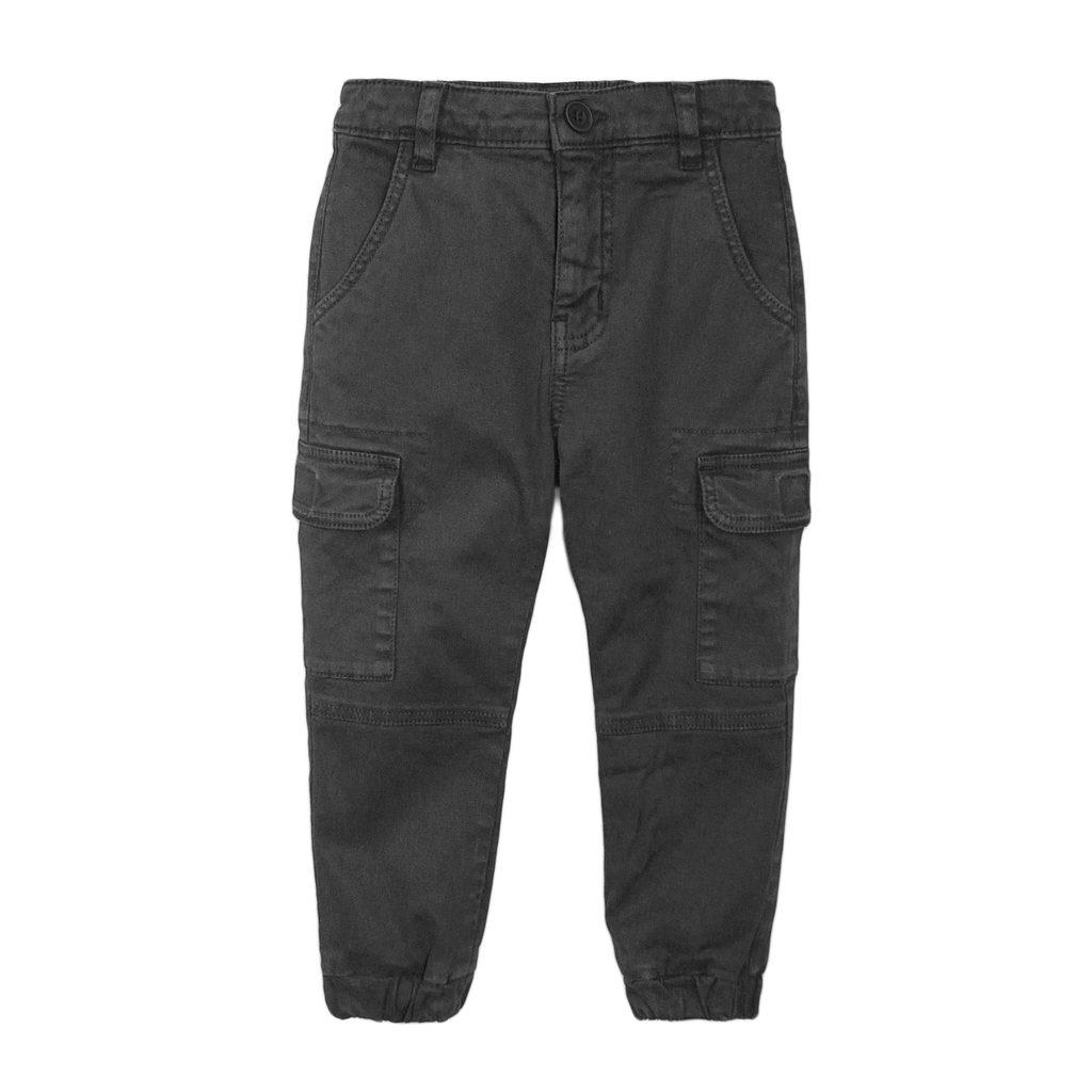 Kalhoty chlapecké s elastanem, Minoti, 3BCOMBAT 2, šedá - 98/104