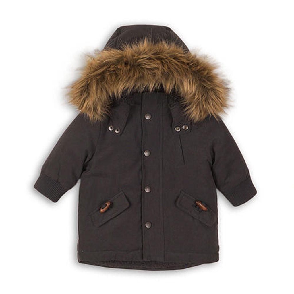 Kabát chlapecký zimní, Minoti, BOLT 3, šedá - 74/80