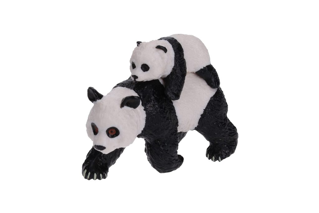 C - Figurka Panda s mládětem 8 cm, Atlas, W101912