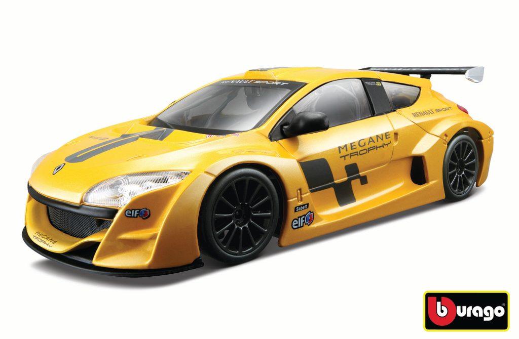 Bburago 1:24 Renault Mégane Trophy Metallic Yellow, Bburago, W007360