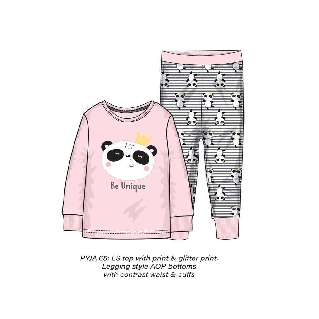 Pyžamo dívčí, Minoti, PYJA 65, růžová - 140/146