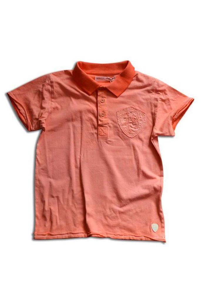 tričko s límečkem, Minoti, SANTA 8, oranžová - 134/140
