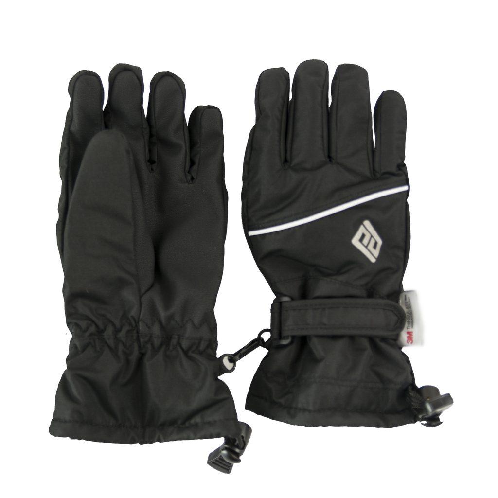 rukavice prstové dětské, Pidilidi, PD0999, černá - 140/146
