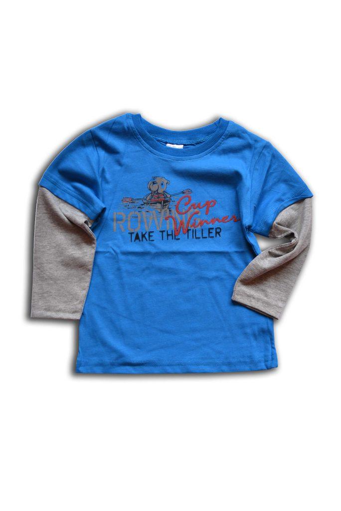 tričko chlapecké, dlouhý rukáv, Wendee, OZKB101685-0, světle modrá - 98