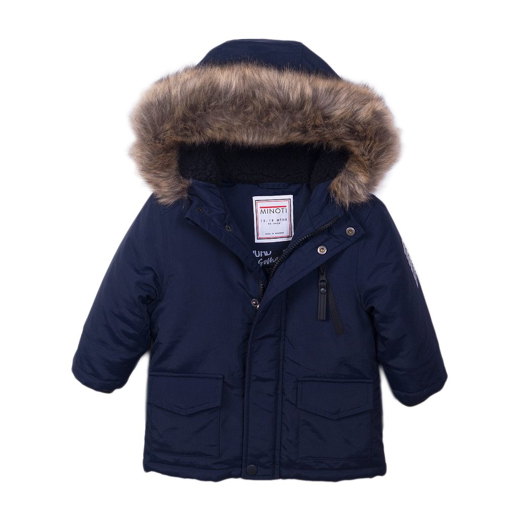 Kabát chlapecký prošívaný Parka, Minoti, Pursuits 2, modrá - 152/158