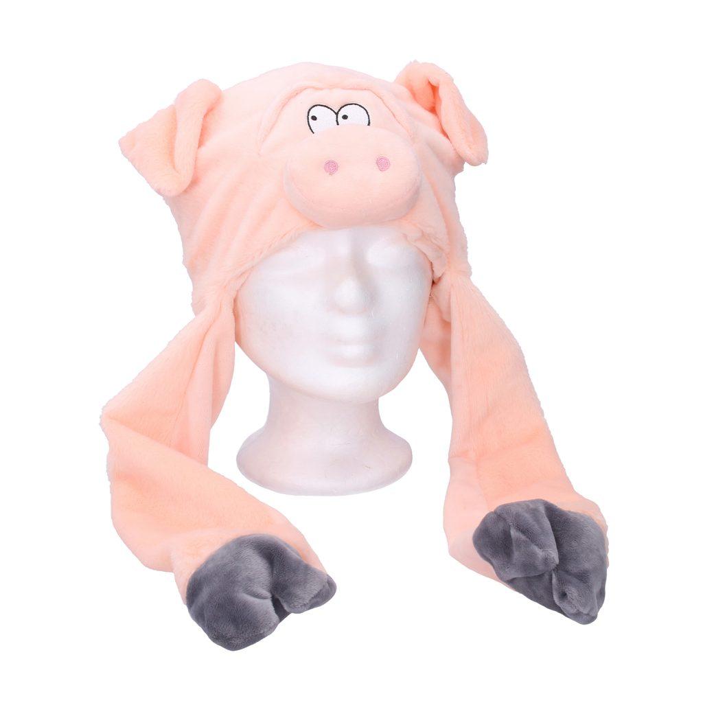 Čepice s pohyblivýma ušima - prase, Wiky, W001604