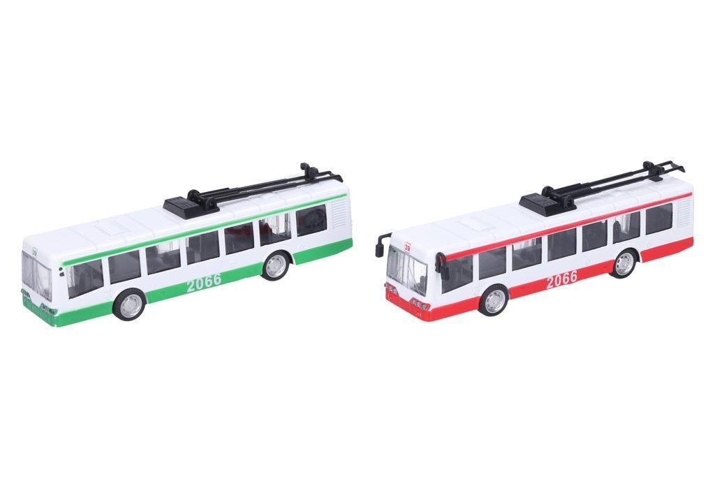 Trolejbus kovový s efekty 16 cm, Wiky Vehicles, W006224