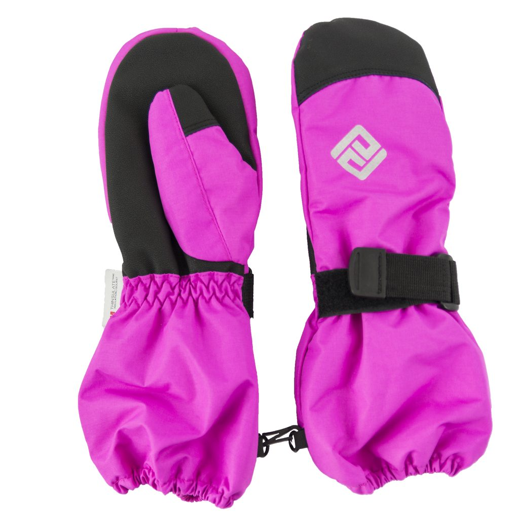 rukavice palcové dětské, Pidilidi, PD1000, růžová - 128/134