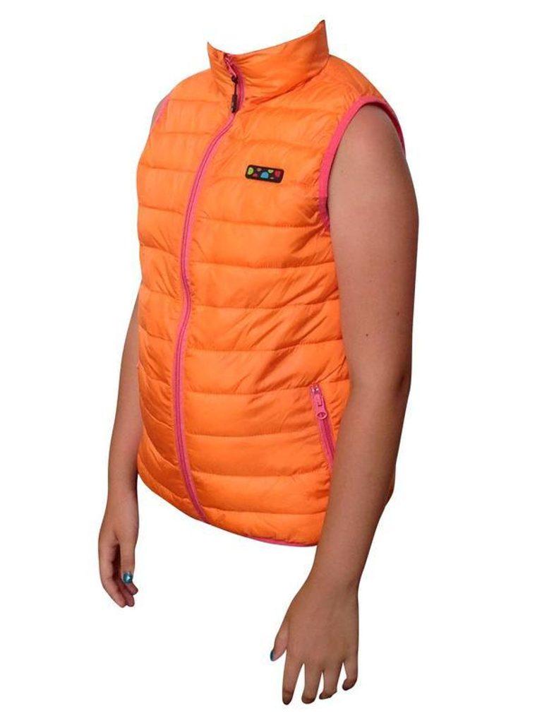 vesta extra lehká nylonová, Pidilidi, PD996, oranžová - 110
