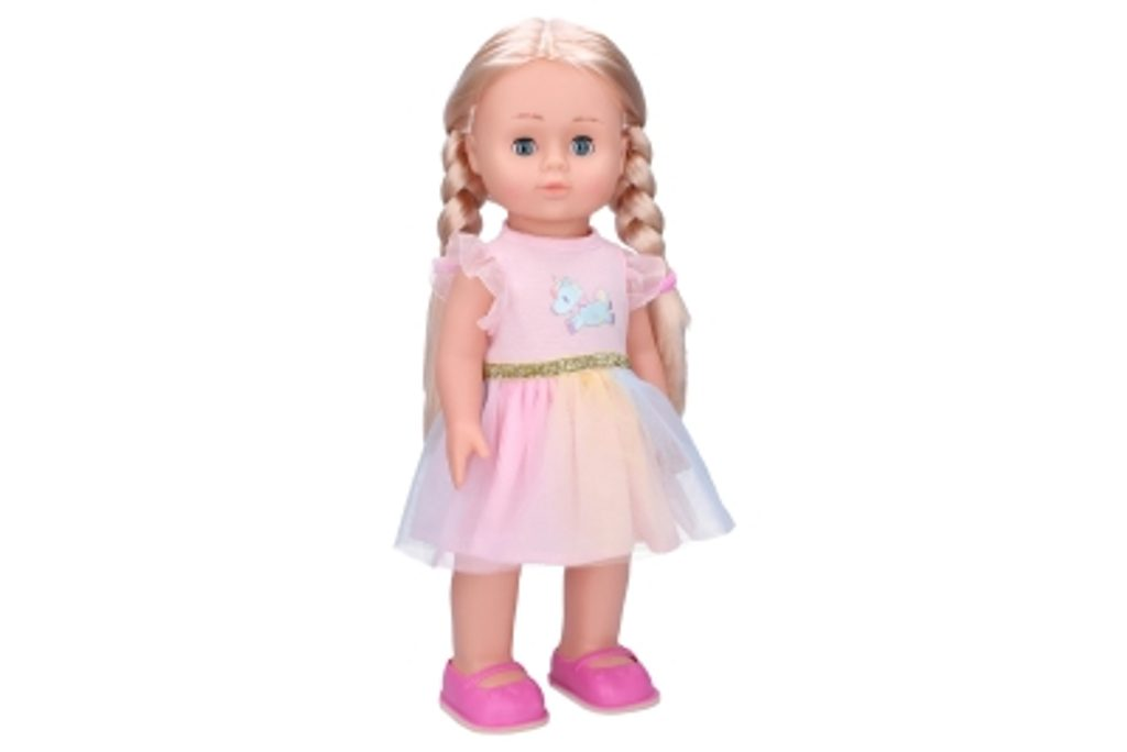 Eliška chodící panenka 41 cm, růžové šaty, Wiky, W008876