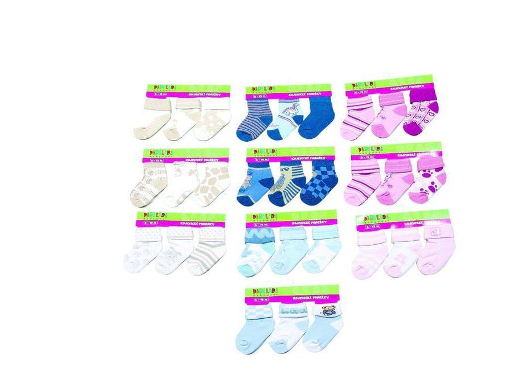 kojenecké ponožky (6 až 12m), Pidilidi, PD109, mix - 68/80