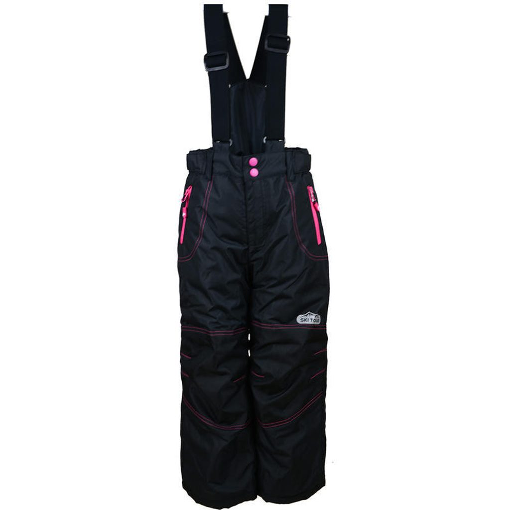 kalhoty zimní lyžařské, Pidilidi, PD1016-10, černá - 146/152
