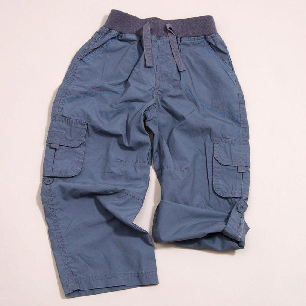 Kalhoty chlapecké roll up, Pidilidi, PD819, šedá - 86/92