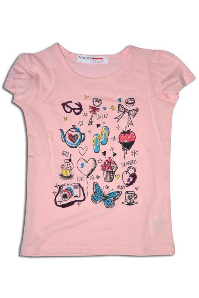 tričko dívčí, Minoti, BB 3, růžová - 110/116
