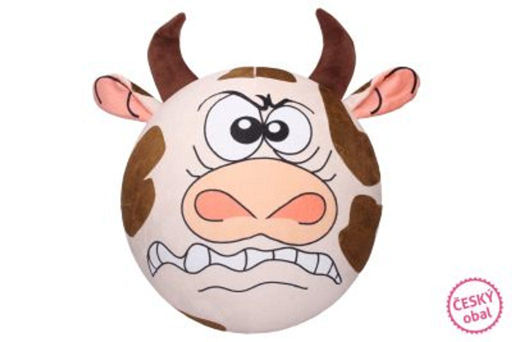 Nafukovací plyšový míč - Kráva 30 cm, W007532