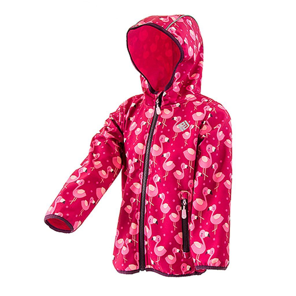 dívčí softshellová bunda s potiskem a pevnou kapucí, PiDiLiDi, PD1072-01, holka - 92/98