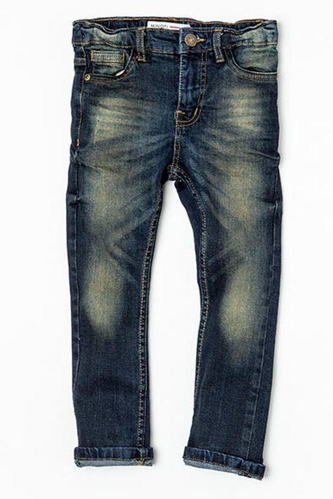 Kalhoty chlapecké džínové s elastenem, Minoti, NINETY 6, modrá - 134/140
