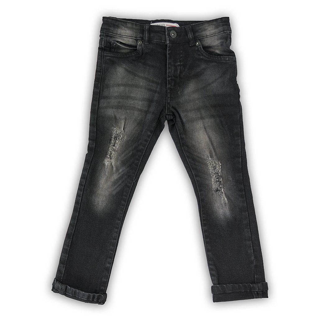 Kalhoty džínové chlapecké, Minoti, WORD 8, černá - 98/104