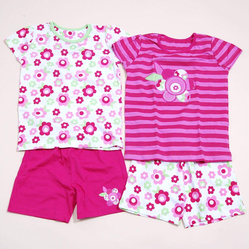 Pyžamo dívčí  letní set 2ks, Pidilidi, PD809, růžová - 98/104