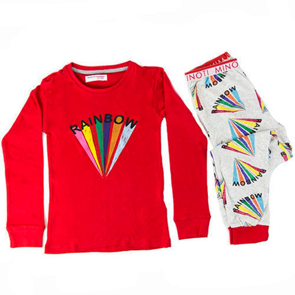 Pyžamo dívčí, Minoti, HWX132, červená - 152/158