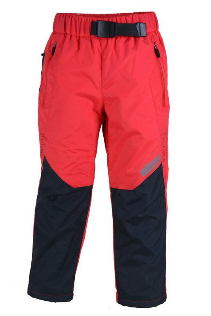 kalhoty sportovní s fleezem outdoorové, Pidilidi, PD1028-08, červená - 98