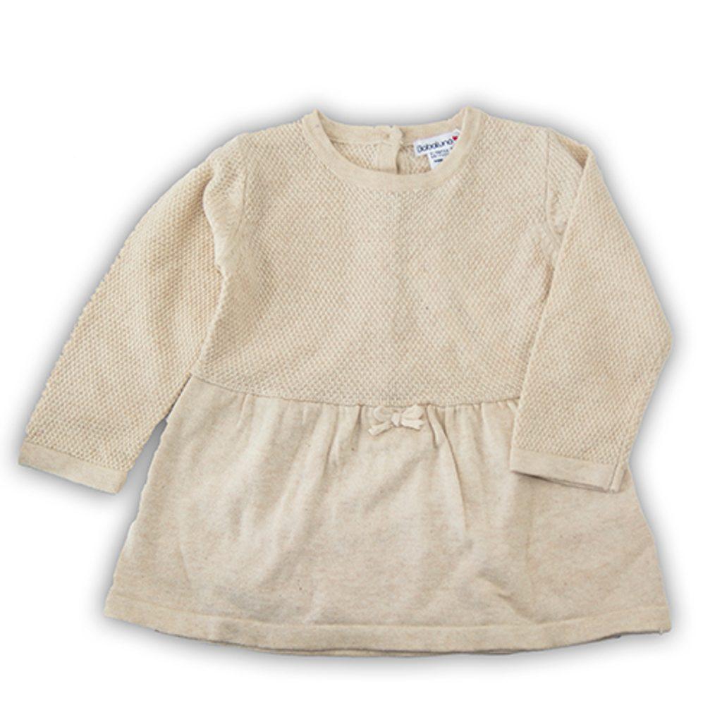 Šaty kojenecké úpletové, Minoti, BUNNY 2, béžová - 74/80