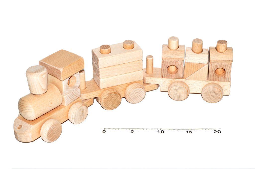 Vláček dřevěný přírodní, Wiky, W201237