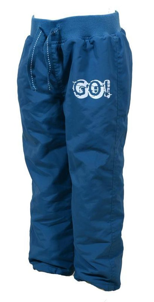 kalhoty sportovní s fleezovou podšívkou, Pidilidi, PD886, modrá - 158