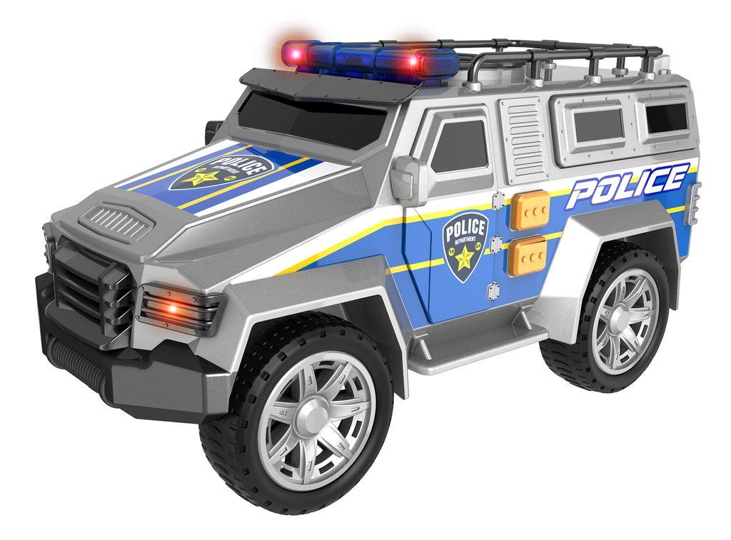 Auto - terénní policejní s efekty 22 cm, Teamsterz, W008180