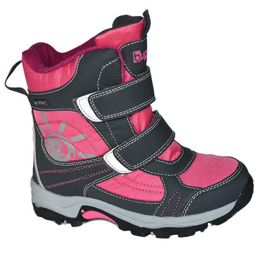 boty zimní 2 pásky, nepromokavá membrána, Bugga, B00128-03, růžová - 30