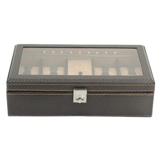 BOX NA HODINKY FRIEDRICH LEDERWAREN CARBON 32059-3