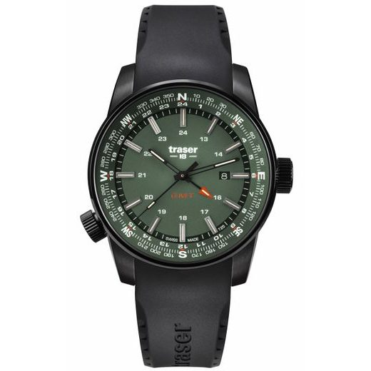 TRASER P68 PATHFINDER GMT GREEN PRYŽ