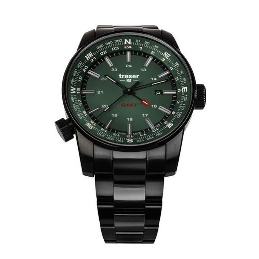 TRASER P68 PATHFINDER GMT GREEN OCEL