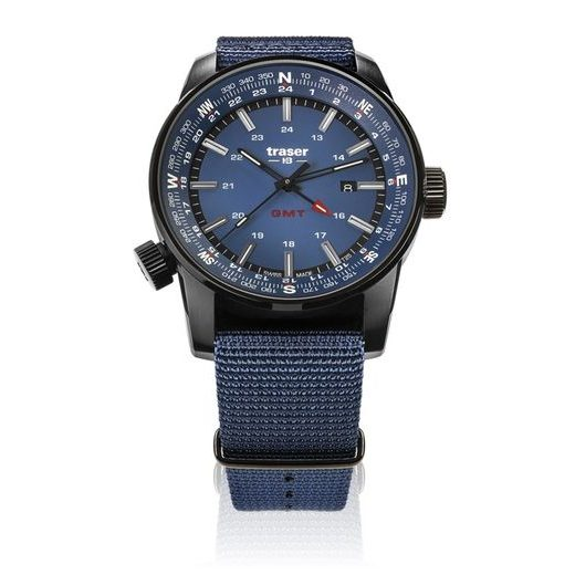 TRASER P68 PATHFINDER GMT BLUE NATO
