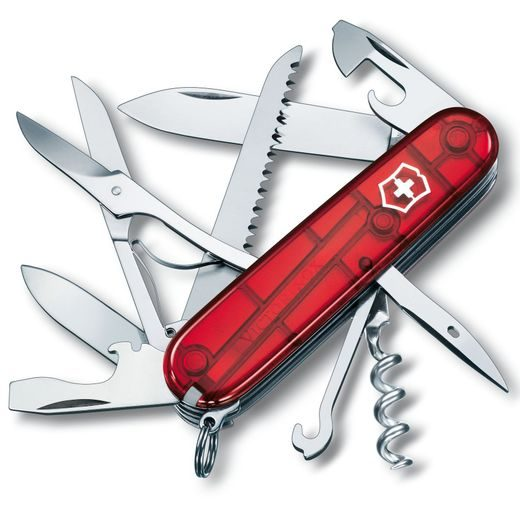 NŮŽ VICTORINOX HUNTSMAN RED TRANSPARENT