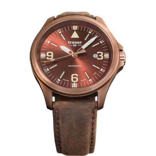 TRASER P67 OFFICER PRO AUTOMATIC BRONZE BROWN KŮŽE