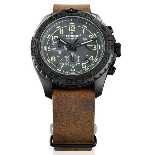 TRASER P96 OUTDOOR PIONEER EVOLUTION CHRONO GREY KŮŽE