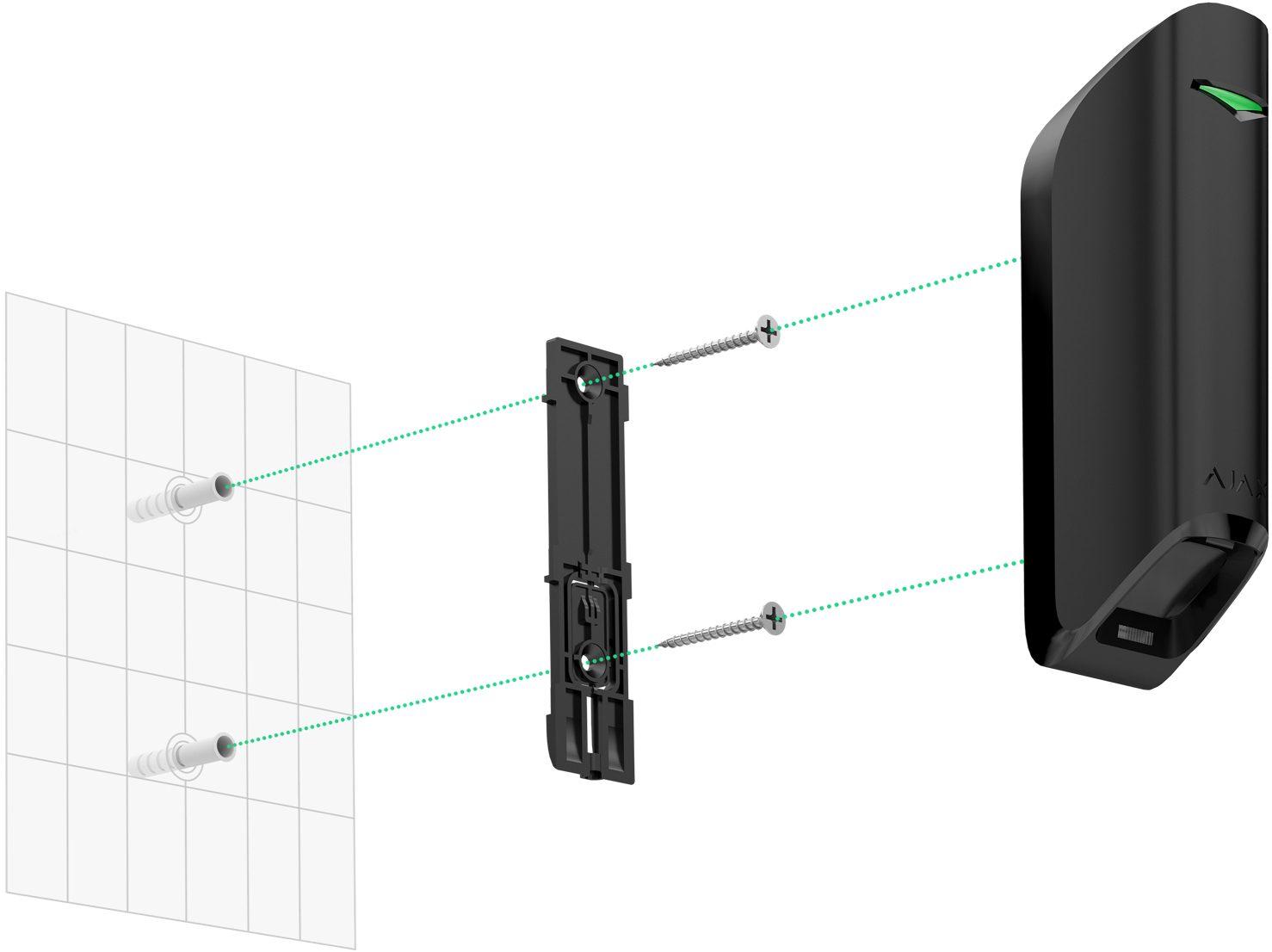 Bezpečnostní systém - záclonové čidlo