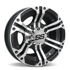 ITP SS212, 12x7 (2+5) Machined w/Black 4/110