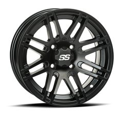 ITP SS316, 12x7 (5+2) Matte Black w/ Machined 4/115