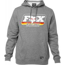 Pánská mikina Fox Throwback Pullover Fleece Heather Graphite