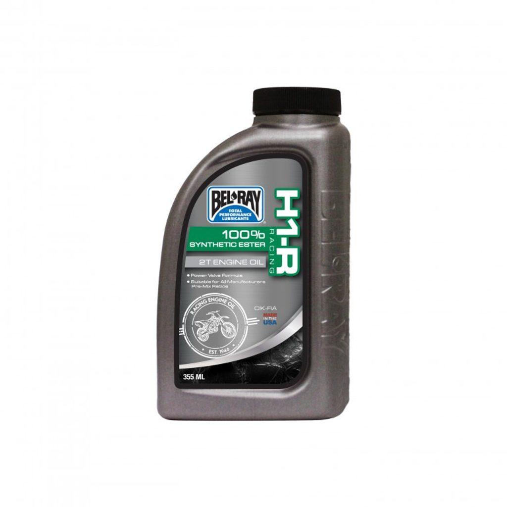 Motorový olej Bel-Ray H1-R RACING 100% SYNTHETIC ESTER 2T (355 ml)