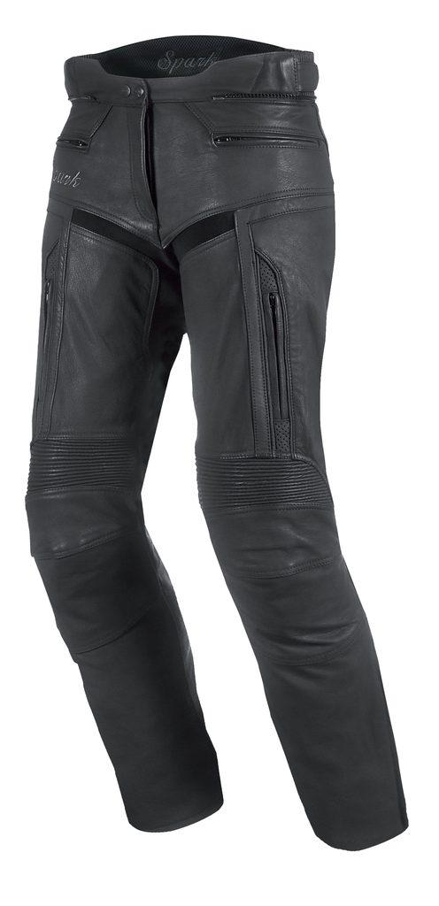 Dámske kožené moto nohavice Spark Virginia, čierne