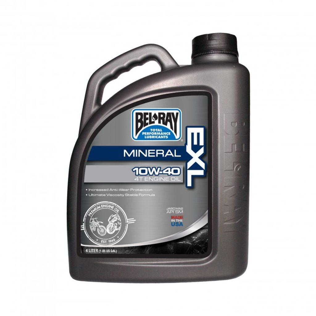 Motorový olej Bel-Ray EXL MINERAL 4T 10W-40 4 l