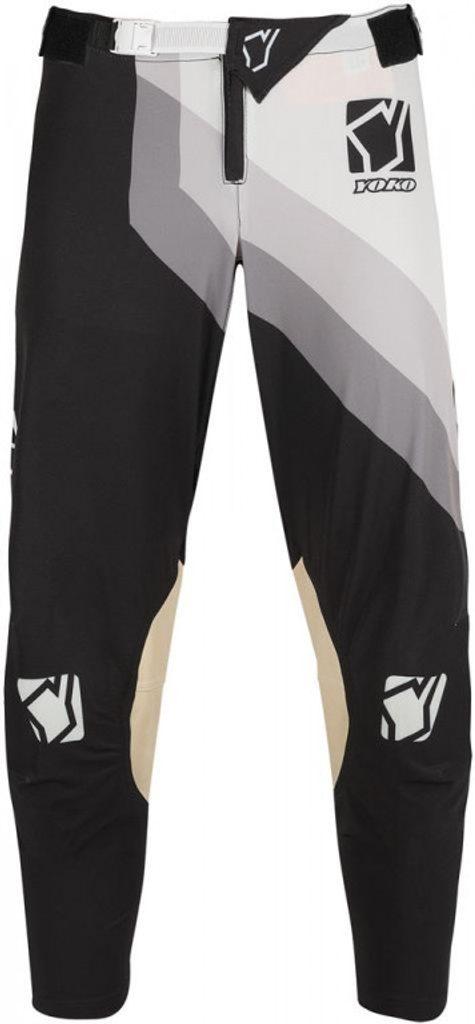 Motokrosové detské nohavice YOKO VIILEE čierno / biele