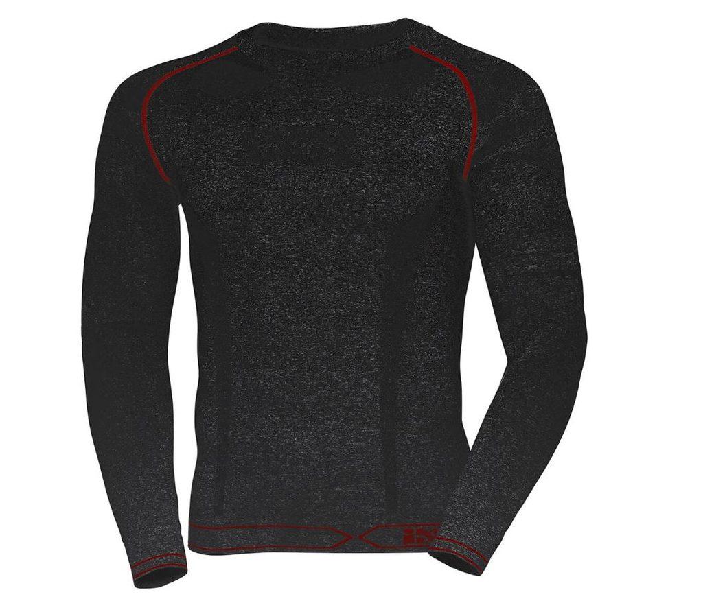 IXS Funkčné tričko s dlhým rukávom 365 čierno-šedé