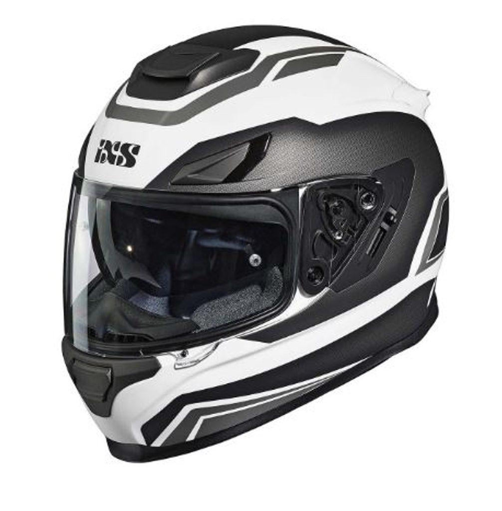 Moto prilba IXS  x14073-M19 biela/antracitová šedá matná